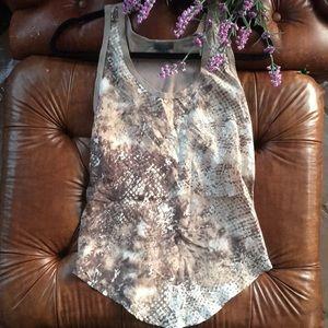 Anthropology left of center tank top shirt silk